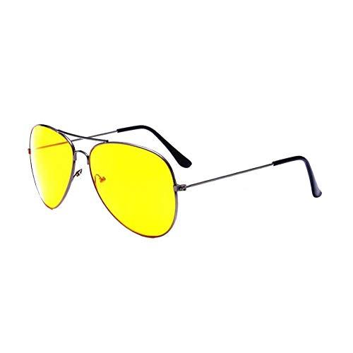 Taiyangcheng Aviator Sonnenbrille Männer Augen Schützen Sport Beschichtung Sonnenbrille Sommer Neue Pilot Sonnenbrille Frauen Männer,Schwarz Gelb