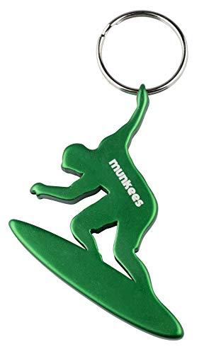 munkees Schlüsselanhänger Surfer-Figur Flaschenöffner Sport-Fans, Grün, 35235