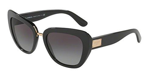 Dolce&Gabana Damen Sonnenbrille DG4216, Gr. Medium (Herstellergröße: 55), Grau (schwarz-rosendruck/grau verlauf 29388G)