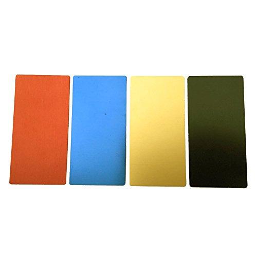Ebamaz - Hojas Grabado Placa Aluminio anodizado, 100