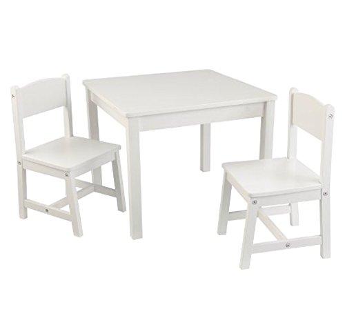 Adorable Ensemble de Table et Chaise pour Enfant – Construction Robuste – Comprend 1 Table carrée et 2 chaises Assorties