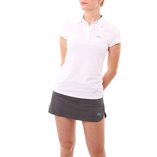 Sportkind Mädchen & Damen Tennis, Golf, Sport Poloshirt, Weiss, Gr. 152