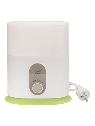 Mee Mee Compact 3 in 1 Steam Sterilizer and Bottle Warmer, White
