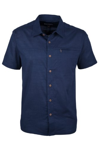 mountain-warehouse-coconut-100-cotton-mesh-lined-mens-short-sleeve-travel-shirt-navy-large