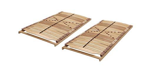 Malie Panda Superflex NV Lattenrost-Set in 200 x 200 cm – bestehend aus 2 x Lattenrost Panda Superflex NV in 100 x 200 cm