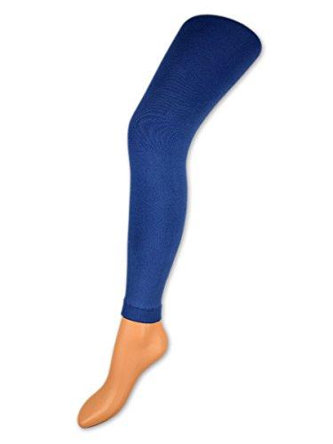 Damen THERMO Leggings mit Innenfleece extra warm Innenfutter Fleece Leggins - 89556 - sockenkauf24 (42/44, Jeans)