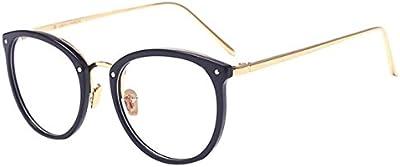 V-SOL Gafas Vintage Unisex Cosplay Lente de Transparente