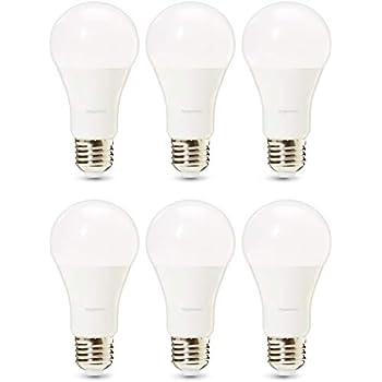 AmazonBasics Professional - Bombilla de tipo Edison LED, casquillo E27, equivalente a 100 W, blanco frío - juego de 6