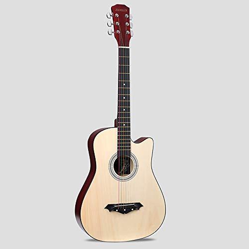 k-Akustikgitarre Hochwertige Buche Anfänger üben Young Boys Girls Gitarre mit Bag Strap String Tuner Capo Poliertuch ( Color : Holzfarbe ) ()