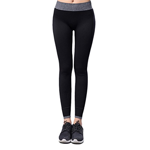 Zhhlaixing Professional Women Sports Pants High Elastic Tight Pants Yoga Outdoor Running Fitness Training Breathable quick-drying Black