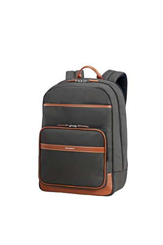 "SAMSONITE Fairbrook - Laptop Backpack 15.6"" Mochila tipo casual, 43 cm, 17.5 liters, Negro (Black/cognac)"