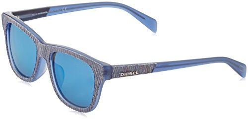 Diesel Wayfarer Eye, Montures de lunettes Mixte Adulte, Bleu (Blu), 54