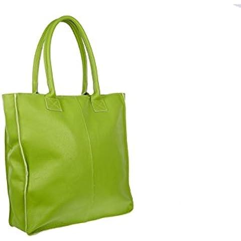 Capaccioli - Maxi borsa piazza con cuciture a vista