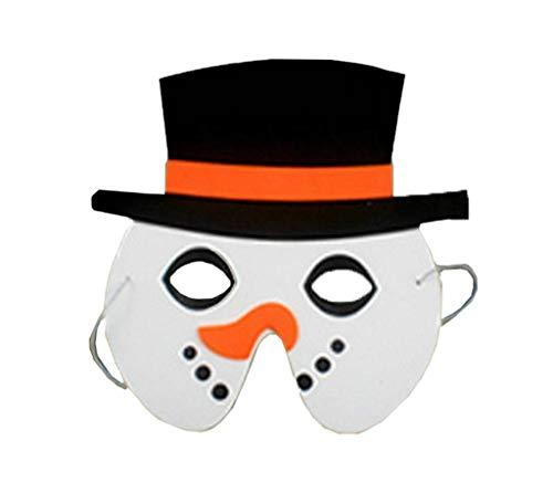 eihnachten/Halloween Dekor Kindergarten Spiel Masken Schneemann ()