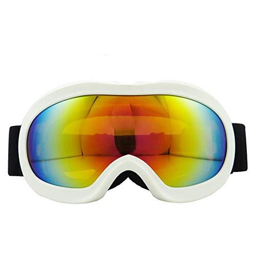 Chengzuoqing Skibrille Snowboardbrillen - Skibrillen Anti-Fog-Skibrillen Schneebrillen Outdoor-Kletterwindschutz Snowboarden, Skifahren, Skaten (Farbe : Weiß)