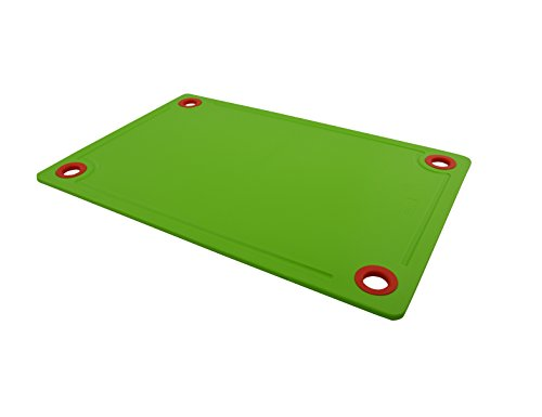 Axtry Plastic Fruit & Vegetable Cutting Board / Plastic Cutting Board For Kitchen / Chopping Board - 25cm x 37cm (Green)