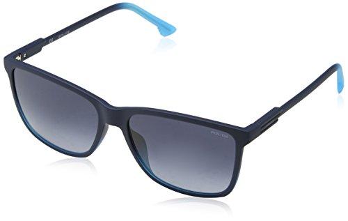 Police Herren Wave 1 Sonnenbrille, Blau (Dark Gradient Light Blue), 57
