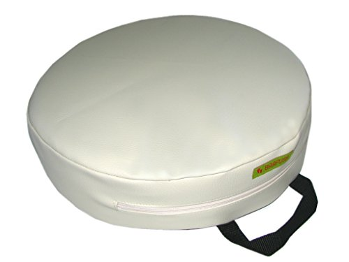 BARFUSS-Kinder-Sitzerhhung-Lederoptik-rund-creme