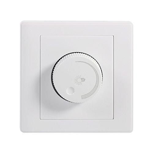GLOGLOW 1Pcs Light Dimmer Switch Praktisches Home Wall Mounted Drehknopf Lampe Helligkeit Controller Panel Dimmer für Glühlampen Unter - Switch Rotary Light