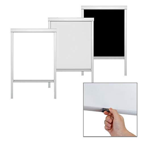 Verdunkelungsrollo Dachfensterrollo passend für M08, Weiß Dachfester/verdunkelndes Rollo, Blickdicht Thermo-Rollo für Fenster Skylight/Kinderzimmer/Schlafzimmer/Küche/Bad/Büro