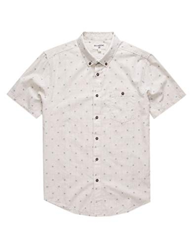 BILLABONG Herren Hemd All Day Jacquard Short Sleeve Woven - grau - X-Groß Billabong Beanie Woven