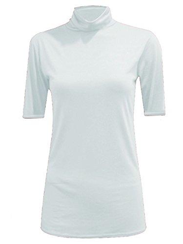 Comfiestyle - Haut de pyjama - Haut - Col polo - Femme Blanc