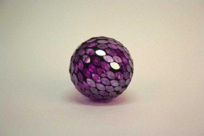 Formano boule en mosaïque violet 8 cm/boule à paillettes