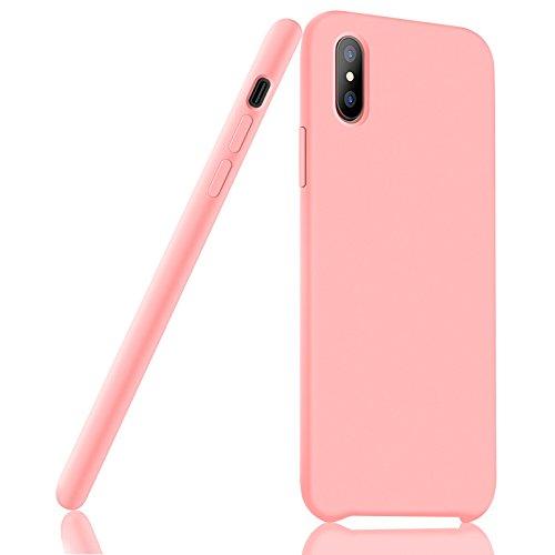 "iPhone X Hülle, Fuleadture iPhone X Liquid Silikon Schutzhülle Flüssigsilikon Mikrofaser Case Cover für iX 5,8"""