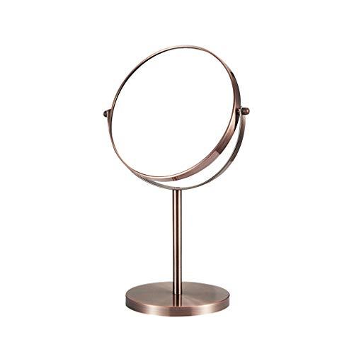 SOARLL Kosmetikspiegel, Kosmetikspiegel 7/8 Zoll 360 ° Drehung Doppelseitige 3X Lupe Wasserdicht Nebel, Desktop Eitelkeit Badezimmer Juweliergeschäft Hotel (Color : A, Size : 7 inch)