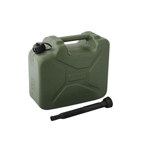 10 L ARMY DESIGN Benzinkanister Kraftstoff Kanister Kraftstoffkanister Ersatzkanister in Oliv