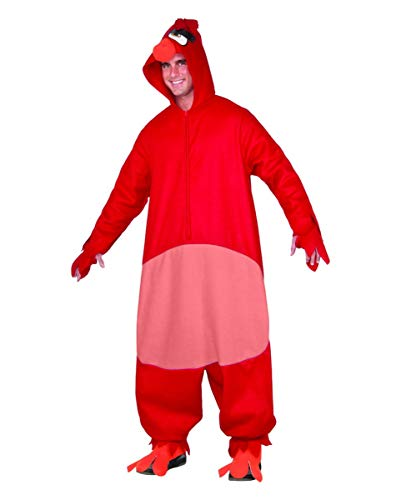 Kinder Kostüm Red Angry Birds Bird - Horror-Shop Roter Angry Birds Red Onsie Overall Unisex für Fasching Standard