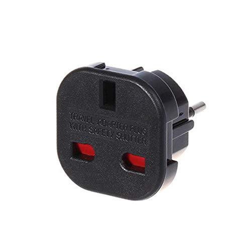 Preisvergleich Produktbild Europäischen Adapter,  Europa Travel Adapter für Rasierer und Elektrische Zahnbürste Ladegerät Power Konverter-Stecker,  3 Pin Uk zu EU 2 Pin