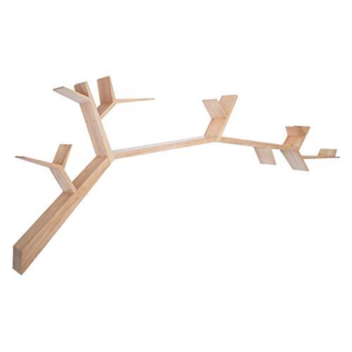 LYXPUZI Massivholz kreativer Baum Wand hängen Bücherregal - Wohnzimmer Wand TV zurück Wand...