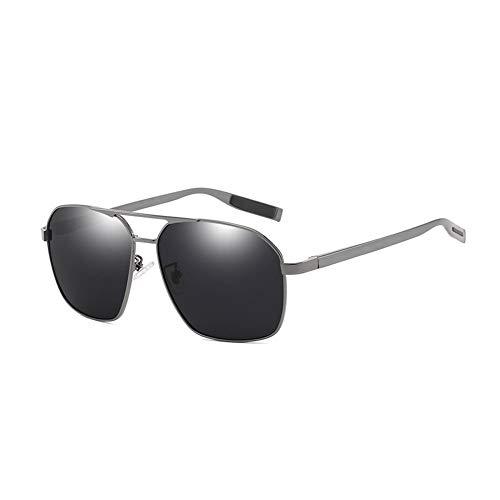 Thirteen Polarisierte Sonnenbrille Männer Metall Farbe Brillengestelle Fahrspiegel Sonnenbrille Tag Und Nacht Wasserdicht Und Ölbeständig (Farbe : D)
