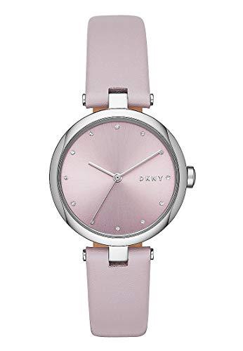 DKNY Damen-Uhren Analog Quarz One Size Lila Leder 32001766 (Damen Uhren Lila)