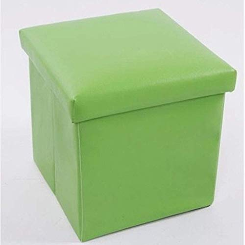 Guotail Storage Stool Leder Schuhbank Bench Stool Multi-Funktion Storch,Green -