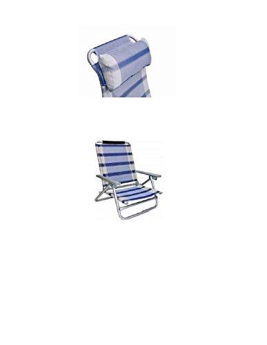 Alu Chaise de plage en aluminium Bleu 2,8 kg – STABIELO + COPKISSEN + TRAGEGURT – 120 kg charge – Option lt. Photo Protection contre le prix de supplément de la marque HOLLY-SET avec parapluie - bleu/jaune/rouge/argenté - support universel à 360° disponible en hauteur Fabriqué en Allemagne – HOLLY PRODUKTE STABIELO – Holly-sunshade ® ! À l'aube avec des cercles en bois – !