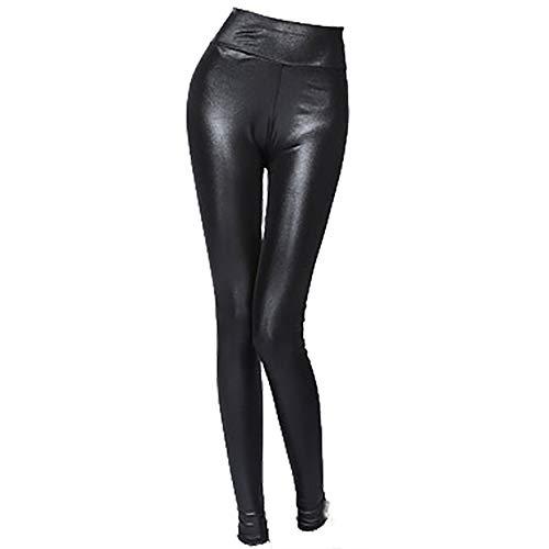 joizo Faux Holographic Ledergamaschen Sexy Shiny Gefälschte Körper für schwarze Frauen 3xl ()