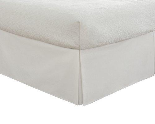 Fresh Ideas Tailored Poplin Bedskirt 14-Inch Drop King, White by Fresh Ideas -
