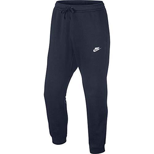Nike Sportswear Club Jogger BB Pantalon Homme, Obsidian/White, FR : L (Taille Fabricant : L)