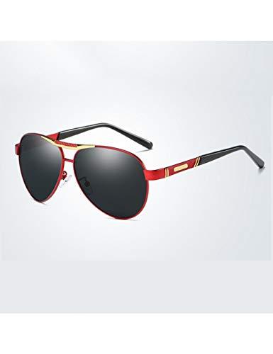 DPDH Sonnenbrillen Vintage Sonnenbrille Männer Polarisierte Oval Alloy Polaroid Männliche Sonnenbrille Original Brand Design Fahrer Gläser Fahrspiegelred Gold-Black