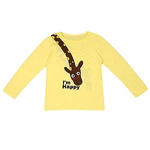 K-Youth de 1 a 7 años Ropa Bebe Niño Otoño Invierno Patrón de Jirafa Camiseta Manga Larga Bebe Blusa de Niños Ropa para… 7