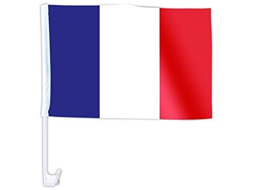 Meilleure offre de prix Mondial 2018 – Lot DE 2 Drapeaux 45 x 30 cm avec Clip pour vitre de Voiture + 1 Drapeau Tissu 90 x 150 cm + 1 écharpe France 14 x 130 cm