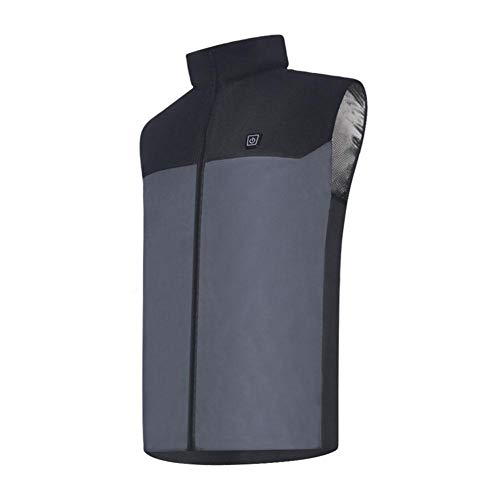 hifuture USB Beheizte Weste 5V Elektrisch Jacke Herren Damen Bosch - Unisex Waschbare Größe Einstellbar USB-Lade Erhitzt Polaren Fleece Kleidung Winter Warme Weste zum Outdoor Reiten Skifahren Angeln -