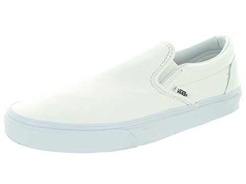 Vans - Pantoufles 'Classic' - U CLASSIC SLIP-ON - (Premium Leather) True White/Mono