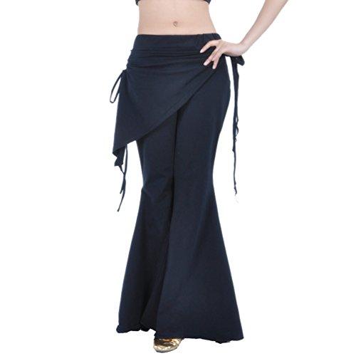 YuanDian Damen Bauchtanz Hosen Breites Bein Schlaghosen Elegante Orientalischen Arabischen Tribal Fusion Dance Performance Wrap Taille Hüfte Hosen Kleidung - Bauchtanz Tribal Fusion Kostüm
