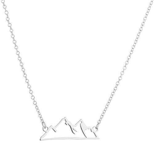 XMDNYE Shuangshuo Origami Schnee Berg Halsketten Bergkette Anhänger Halskette Mountainbike Outdoor Klettern Geschenk