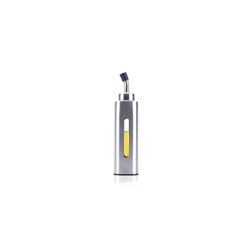 L Flasche Edelstahl L Essig Spender Lbehlter Auslaufsicher Lflasche Liquid Zutatenspender Flasche Staubdicht 205ml