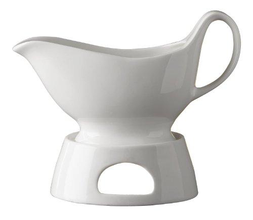 Wenko 8358900 sauciø ¨ re avec chauffe-théière, Porcelaine, Blanc