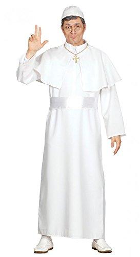 Herren-Kostüm Papst Papa Pope Religion Kirche Soutane Bischof, Größe:M (Religionen Kostüme)